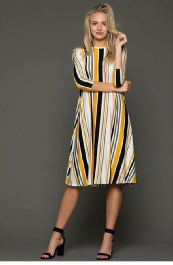 dress multicolored stripe dress