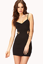 Posh Caged Bodycon Dress | FOREVER21 - 2000090111