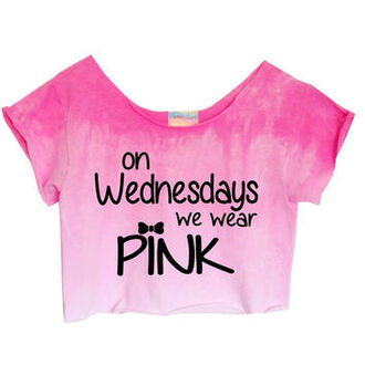 top crop tops pink mean girls