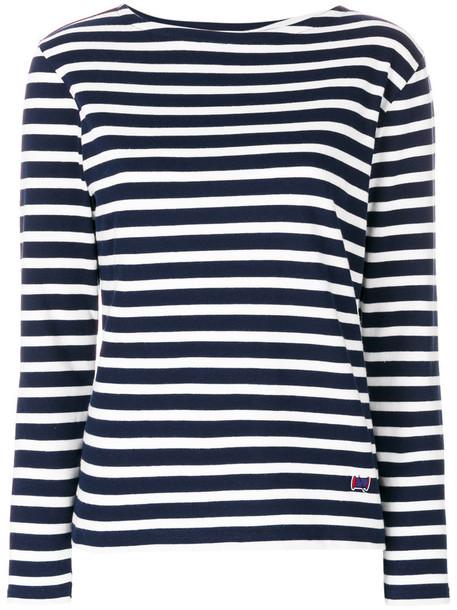 Maison Labiche - Mariniere La Classique sweatshirt - women - Cotton - XS, Blue, Cotton