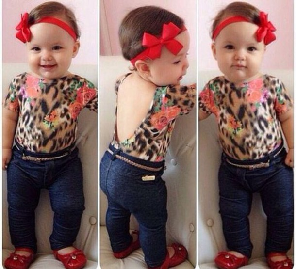 05b78edc0164c blouse, leopard baby shirt tights, leopard print, baby clothing ...