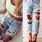 Ripped boyfriend jeans (pre order)