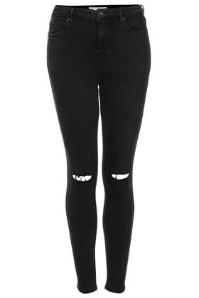 Tall MOTO Black Ripped Jamie Jeans - Tall - Clothing - Topshop