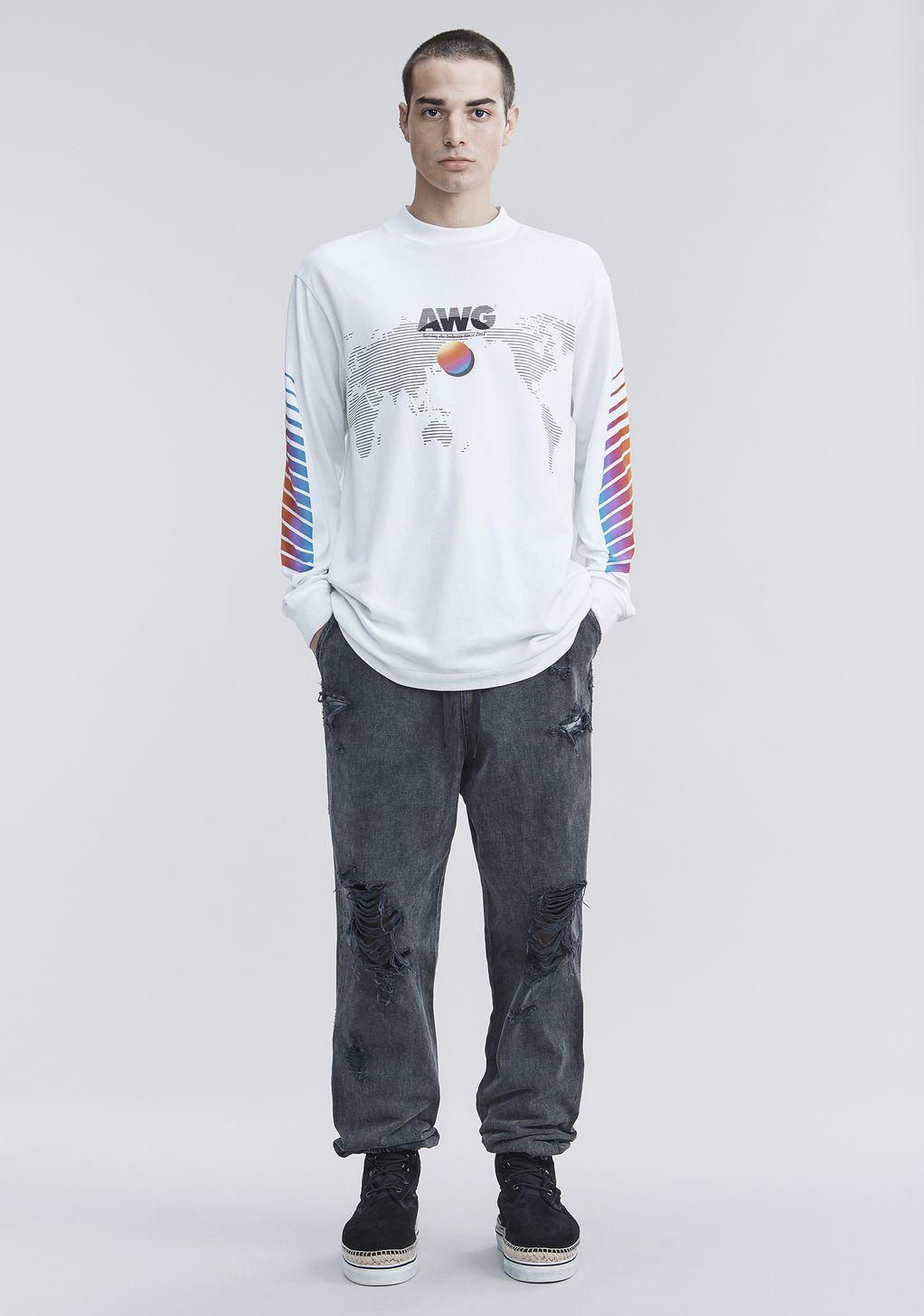 Alexander Wang AWG LONG SLEEVE SHIRT  Long Sleeve t Shirt   Official Site
