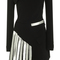 Metal embellished off the shoulder long sleeve dress | moda operandi