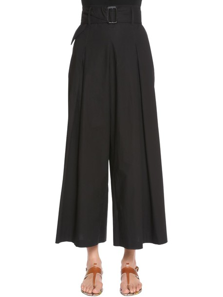ETRO Cotton Poplin Cropped Pants in black