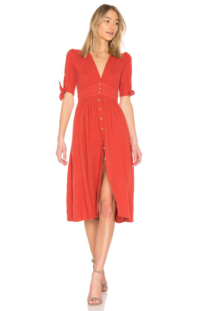 Free People dress love orange