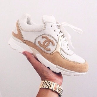 shoes chanel shoes chanel sneakers gold shoes nude nude shoes