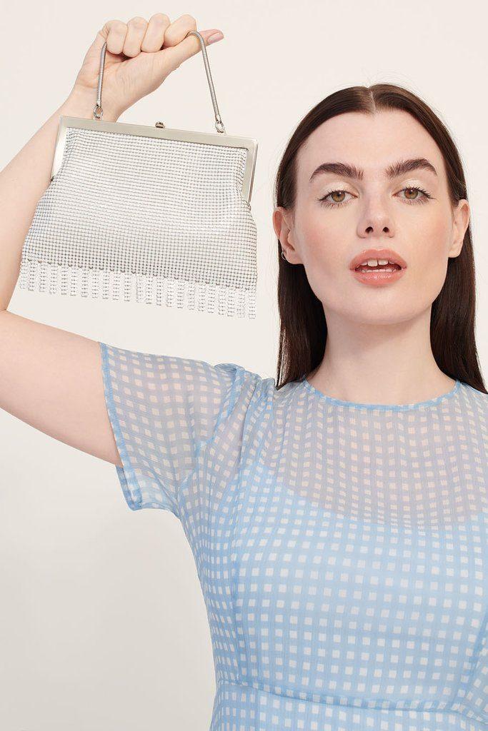 White Zoe Chainmail Bag