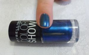 Maybelline Color Show Ltd Ed Blue Metallic Nail Polish Lacquer Blast of Blue New