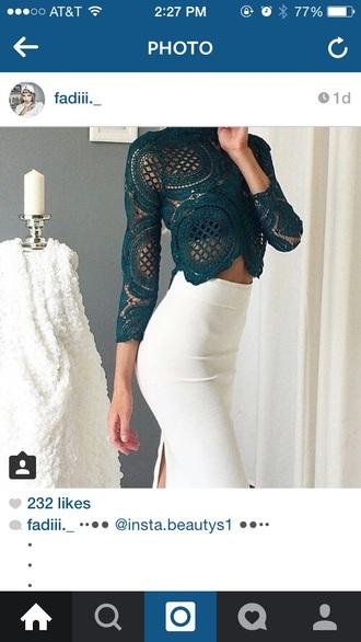 skirt white skirt white blouse