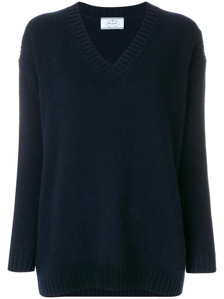 Prada sweater women blue wool