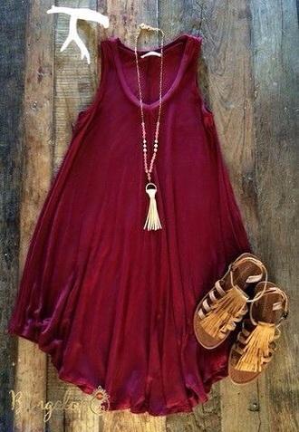 dress burgungy bohemian summer summer dress boho wine red boho dress
