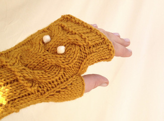 gloves owl fingerless gloves owl clothing yellow mustard mustard yellow mitten women gift ideas gifts for her valentine's day for her