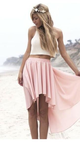 pink dress highlow