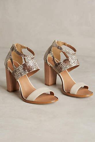 shoes snake heels animal print high heels