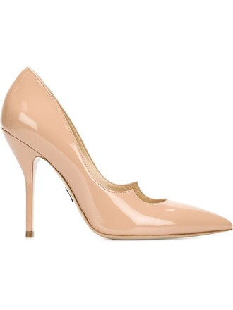 scalloped pumps nude shoes