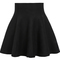 Black high waist ruffle skirt - sheinside.com