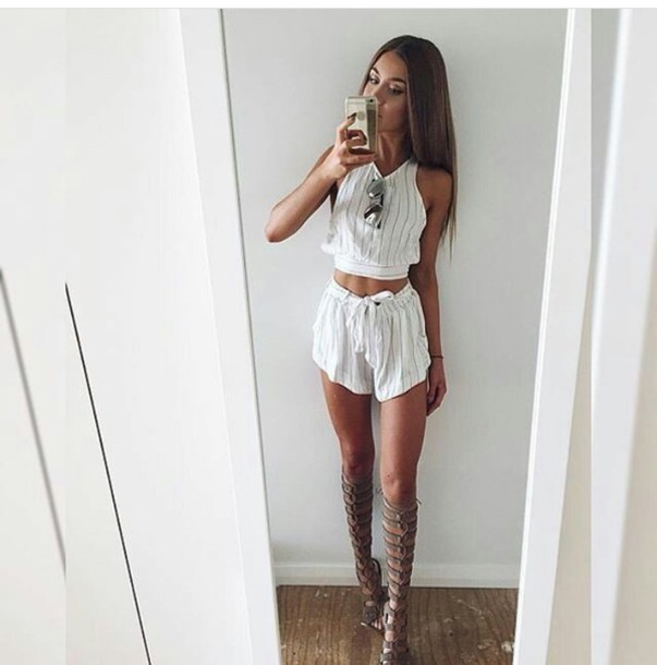 cc0bf99872d shorts outfit outfit idea summer outfits cute outfits spring outfits date  outfit party outfits trendy two