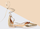 shoes,strappy flats,flats,gold,metallic shoes,gold shoes,spring accessory