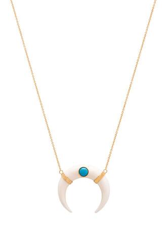necklace metallic gold