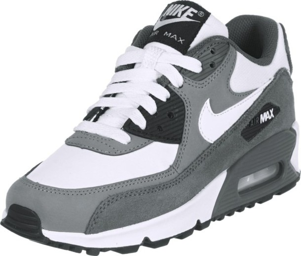 air max 90 grey white black