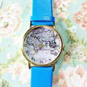 jewels,map watch,watch,boyfriend watch,vintage style,freeforme
