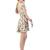 Choies Limited Deep Blue V Neck Skate Dress With Daisy Print - Choies.com