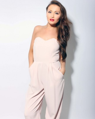 Blush Strapless Jumpsuit - In Love With Fashion