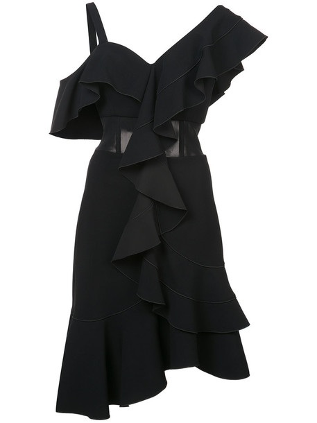 Proenza Schouler dress women spandex black silk
