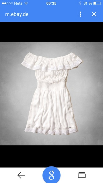 dress hollister laguna hills summer white dress off the shoulder ruffles