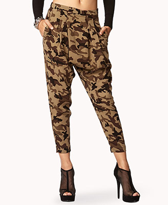 Luxury Forever 21 Distressed Camo Pants In Green | Lyst