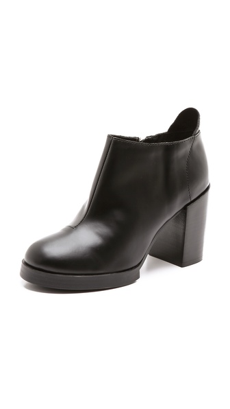 Cheap Monday Layer Booties on Chunky Heel | SHOPBOP