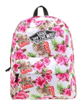 bag vans pink white flowers