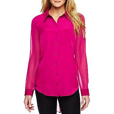 jcpenney | Allen B.® Sheer Woven Shirt