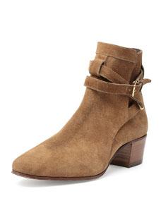 Blake Jodhpur Suede Ankle Boots, Tan
