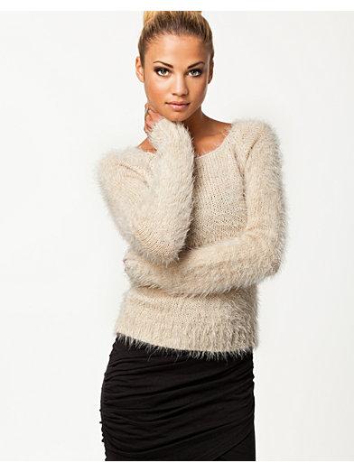 Mohir Short Jumper - Ax Paris - Cream - Tröjor - Kläder - Kvinna - Nelly.com
