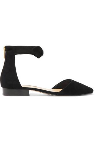 flats suede black shoes