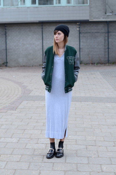 lovely by lucy blogger sweater dress jacket hat shoes