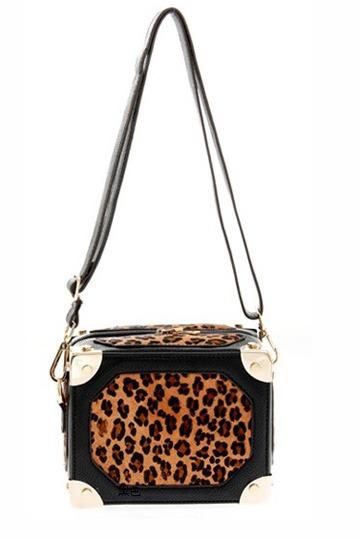 Wild Leopard Box Crossbody Bag [FPB348] - PersunMall.com