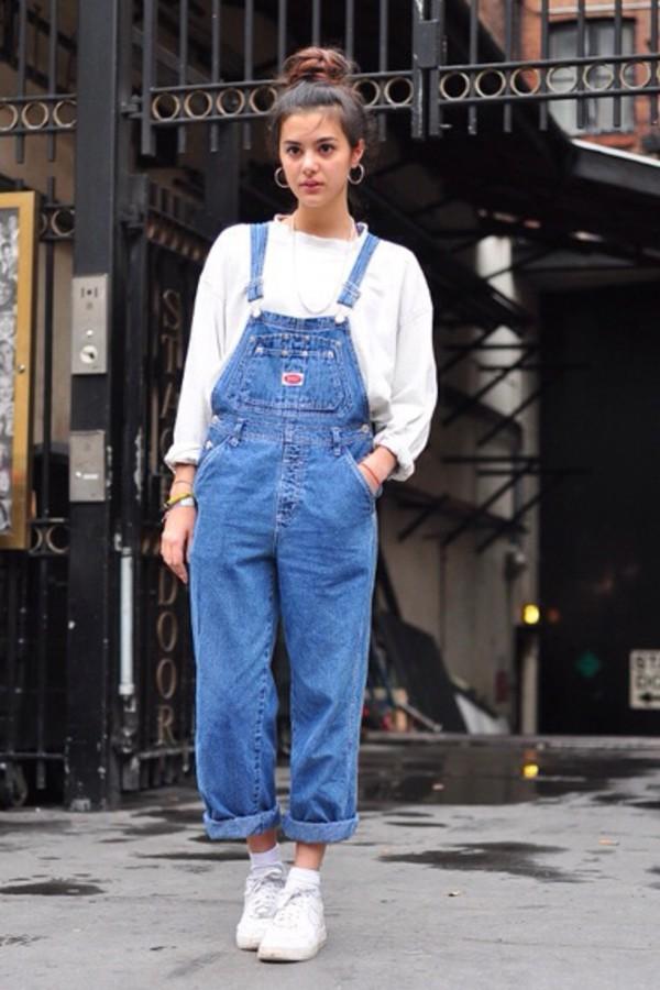 Jeans dungarees denim overalls pants - Wheretoget