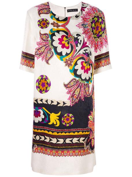 ETRO dress print dress women floral nude print silk