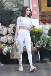 leggings,white,sportswear,sports bra,sporty,sports leggings,olivia culpo,streetstyle