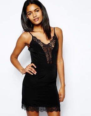 Oh My Love | Oh My Love Lace Plunge Neck Slip Dress at ASOS