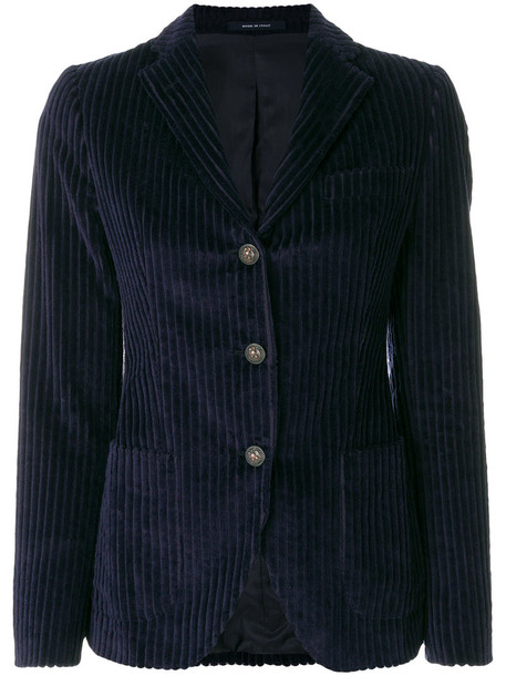 TAGLIATORE blazer women cotton blue jacket