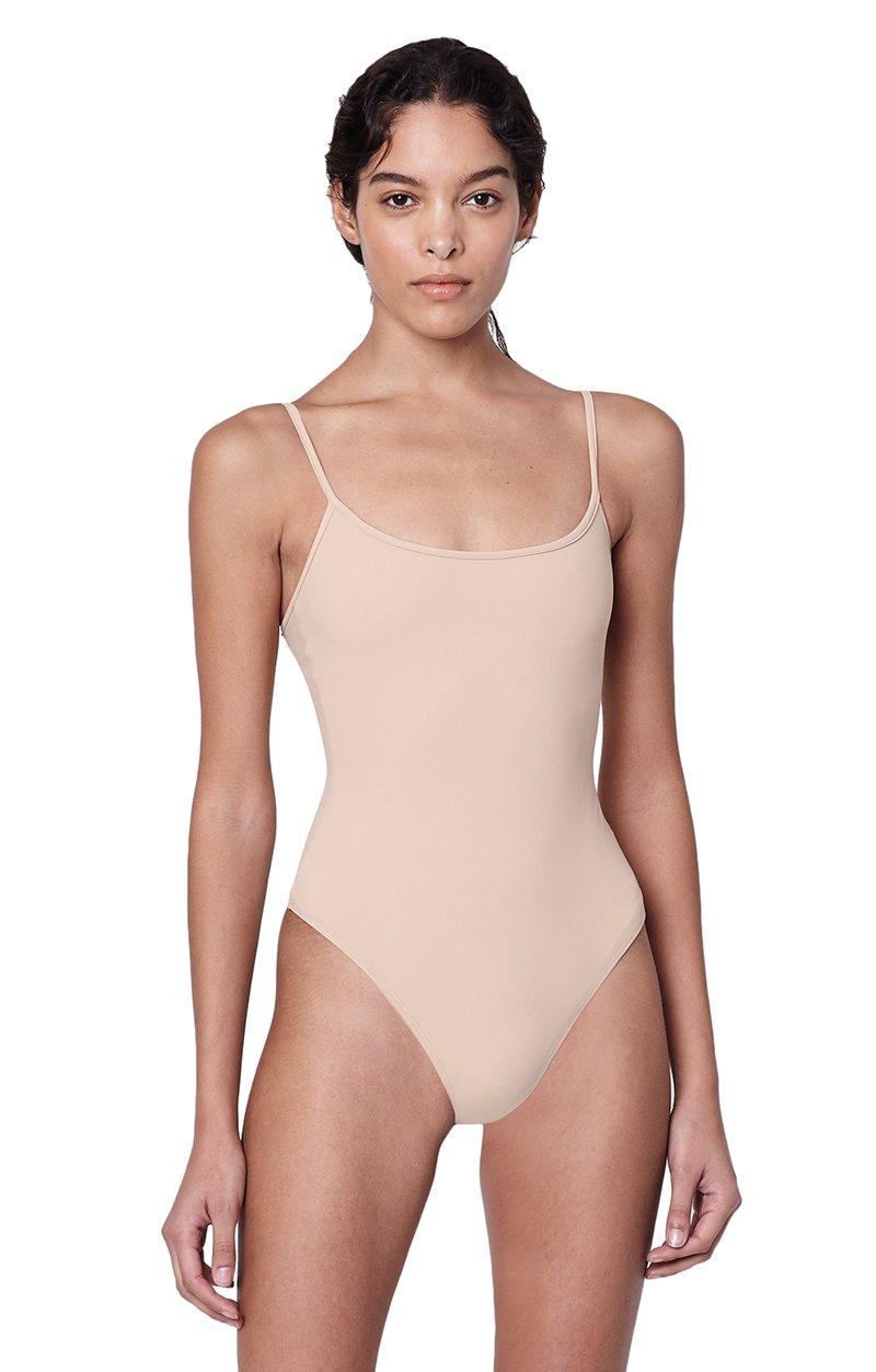 Alix NYC Elizabeth Nude Scoop Neck Tank Bodysuit
