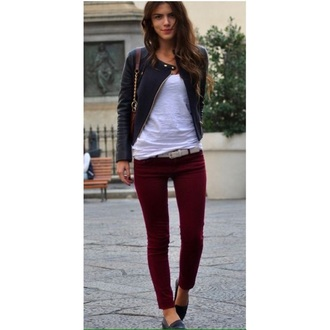 jeans skinny pants skinny jeans style fashion perfecto casual burgundy maroon streetwear streetstyle red lime sunday jeggings leggings