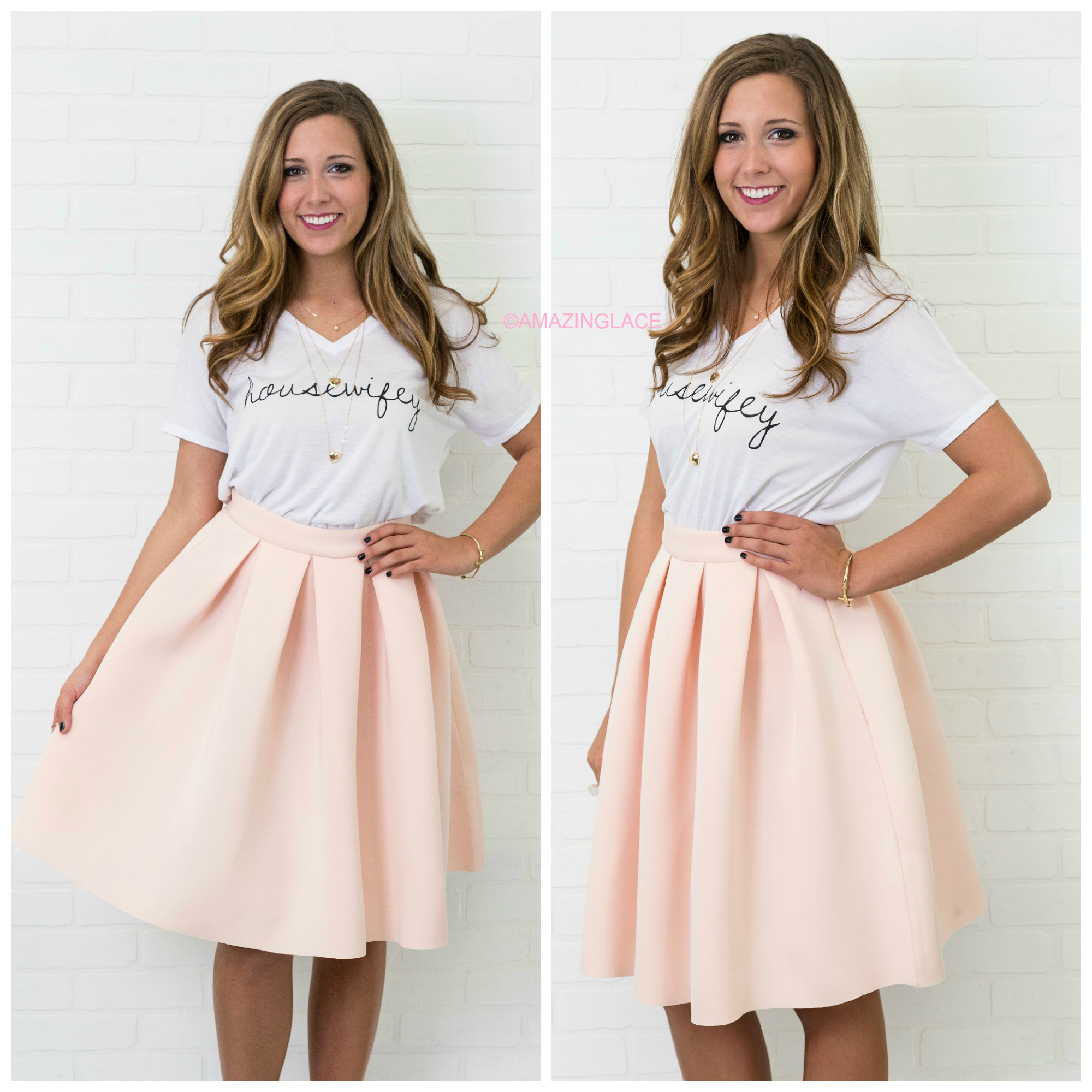 LARGE Last First Kiss Blush Pleated Skirt – Amazing Lace