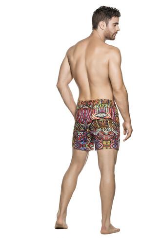 swimwear agua bendita mens print red designer mens swim shorts bikiniluxe