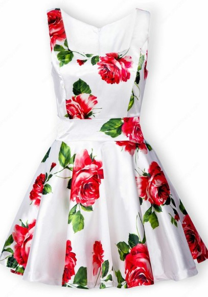 dress valentine white dress floral vintage